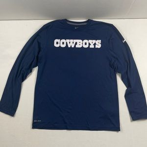 NIKE COWBOYS DRI-FIT LONG SLEEVE MENS SHIRT